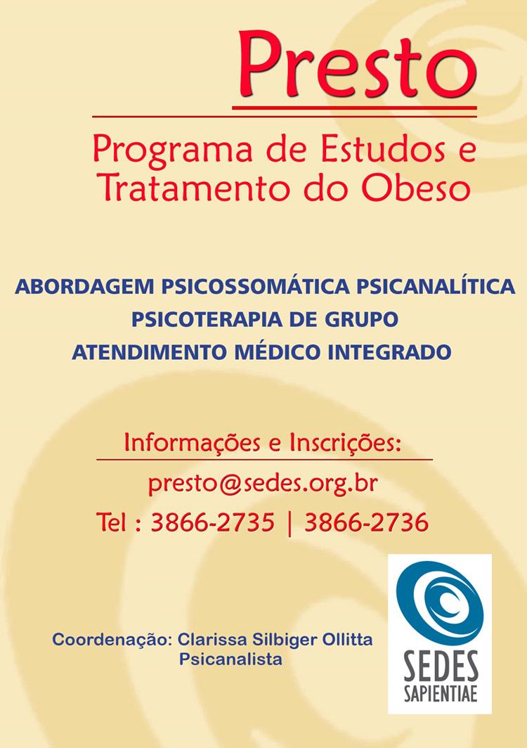 PRESTO – Programa de Estudos e Tratamento do Obeso