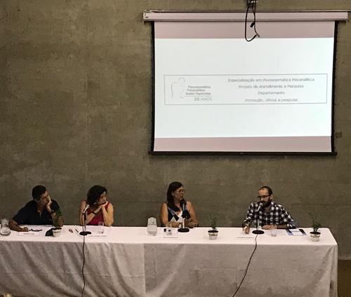 I Cine Psicossoma realizado no dia 23/03/2018 no auditório do Instituto Sedes