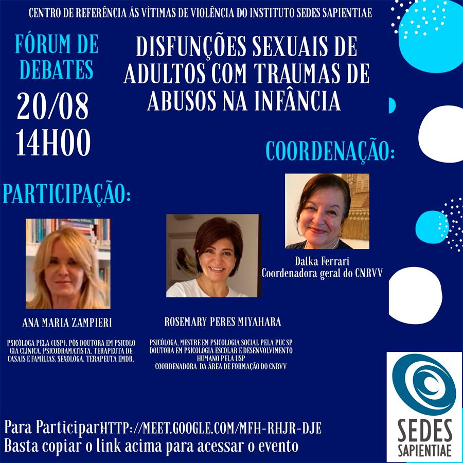 Fórum de Debates – CNRVV – agosto 2020