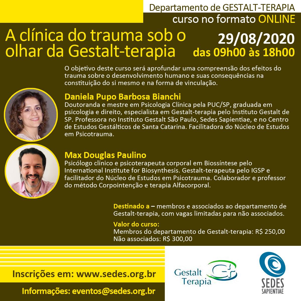 A clínica do trauma sob o  olhar da Gestalt-terapia