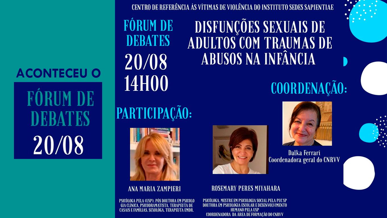 Fórum Debates CNRVV agosto2020