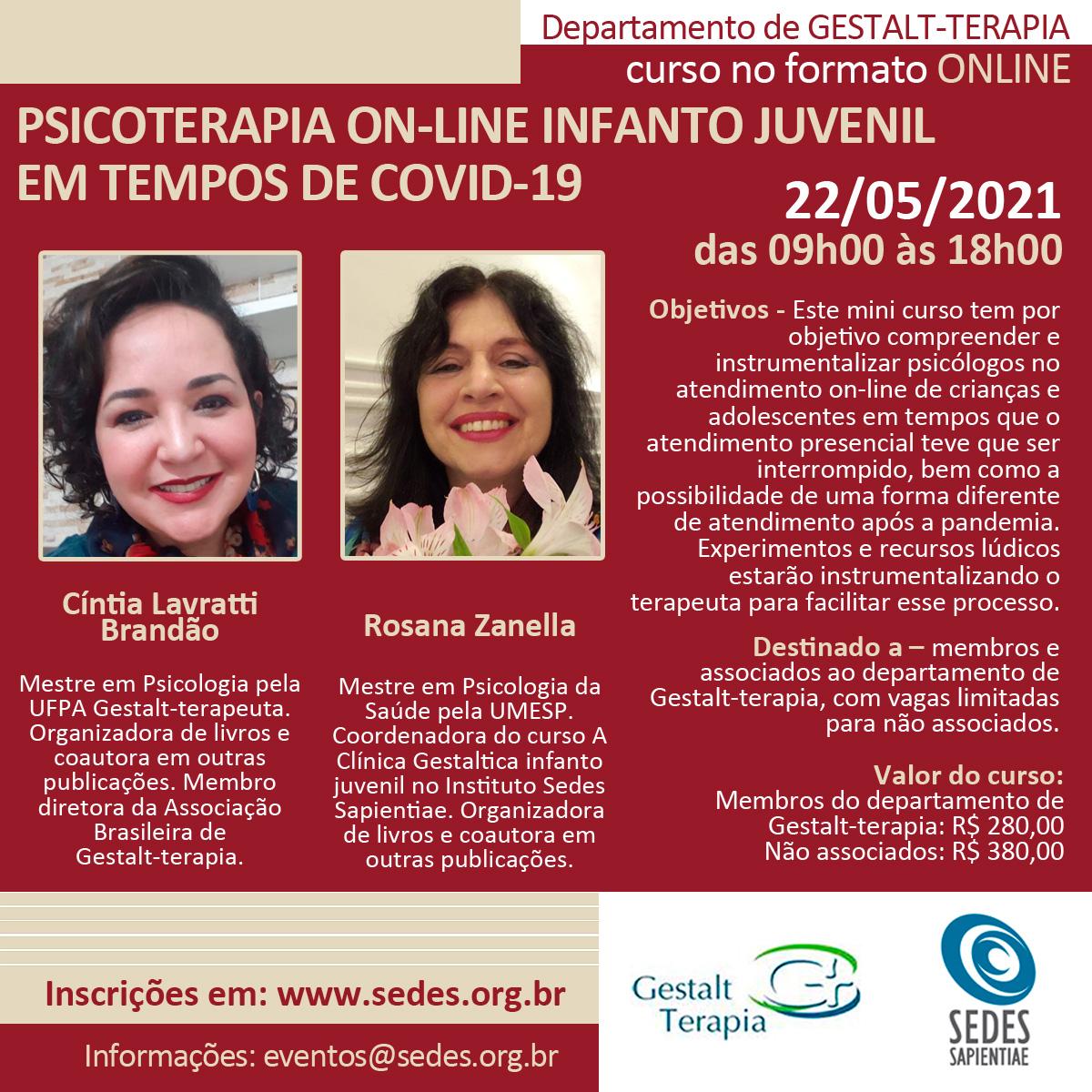 Psicoterapia ON-LINE Infanto Juvenil em Tempos de COVID-19