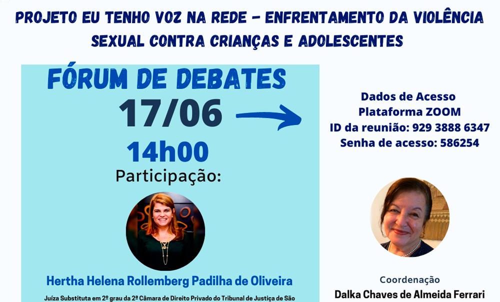 Fórum de Debates – CNRVV – junho 2021