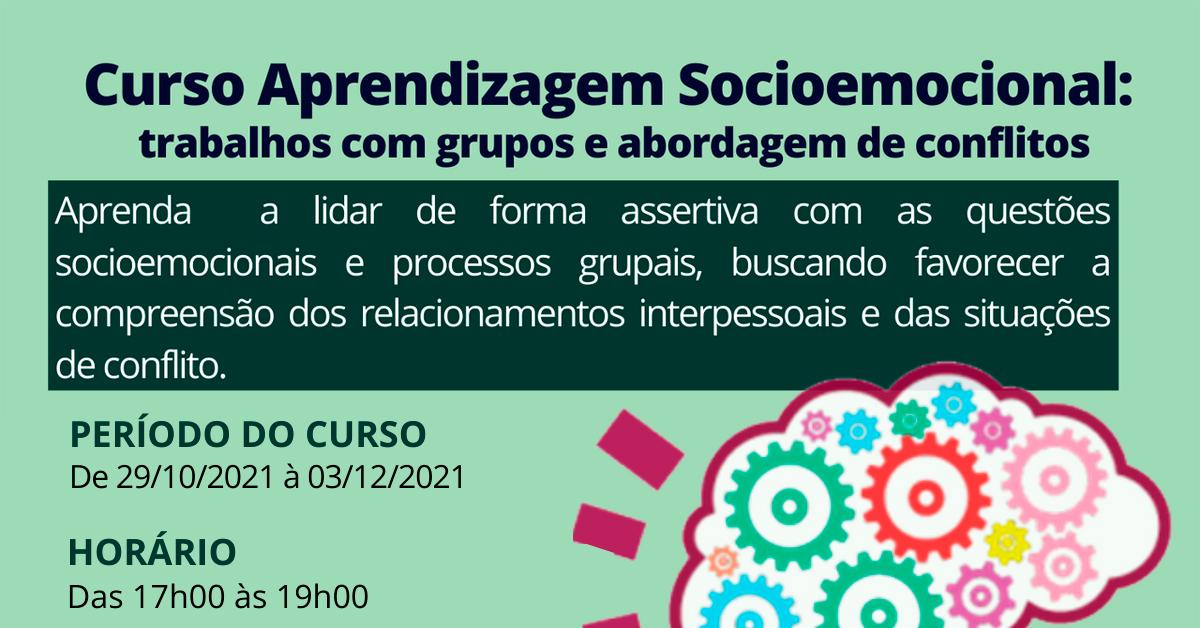 Curso Aprendizagem Socioemocional: trabalhos com grupos e abordagem de conflitos